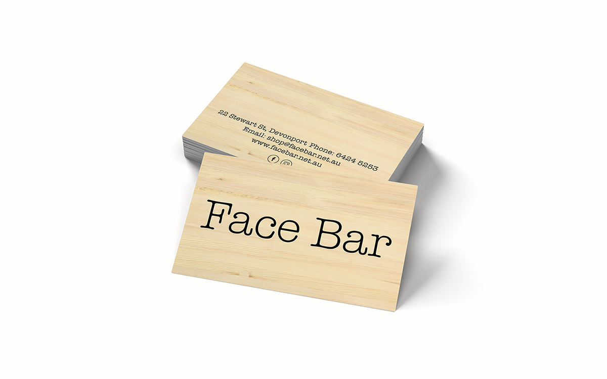 Face Bar Business Cards
