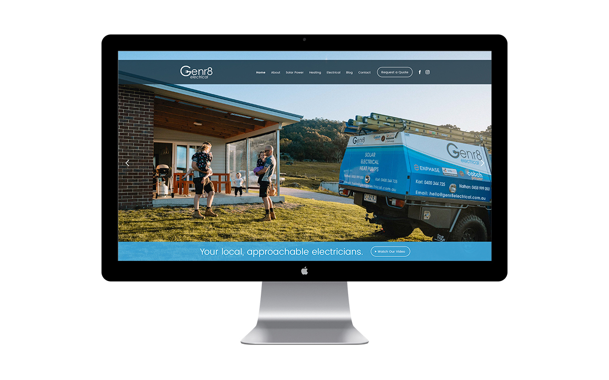 Genr8 Electrical Website